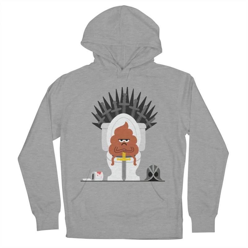 Game of Toilet Men's French Terry Pullover Hoody by Mauro Gatti House of Fun