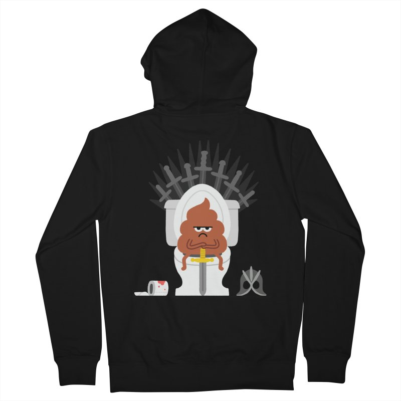 Game of Toilet Women's French Terry Zip-Up Hoody by Mauro Gatti House of Fun
