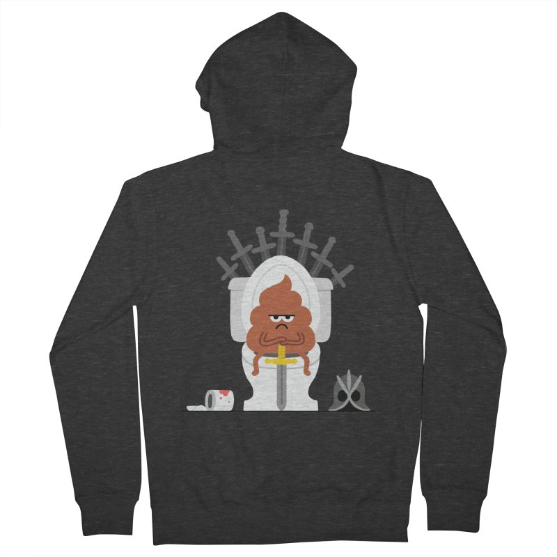 Game of Toilet Men's French Terry Zip-Up Hoody by Mauro Gatti House of Fun