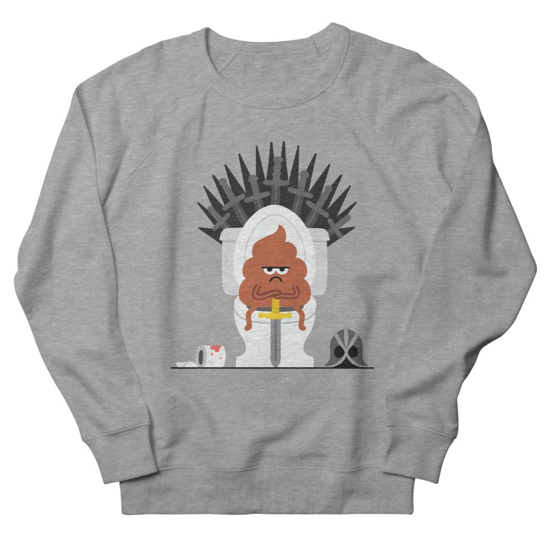 Game of Toilet Men's French Terry Sweatshirt by Mauro Gatti House of Fun