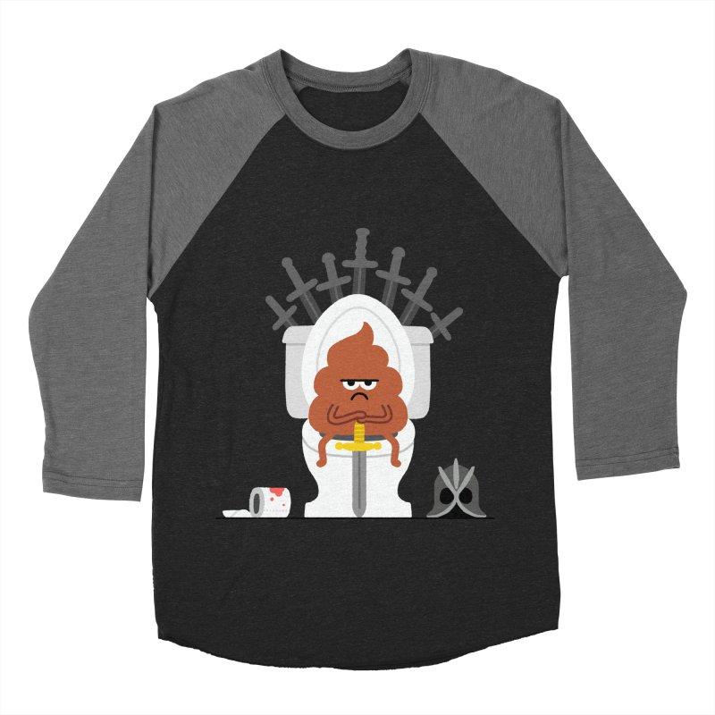 Game of Toilet Women's Baseball Triblend Longsleeve T-Shirt by Mauro Gatti House of Fun