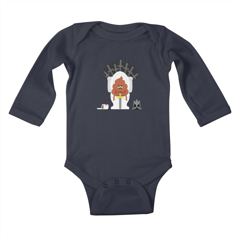 Game of Toilet Kids Baby Longsleeve Bodysuit by Mauro Gatti House of Fun