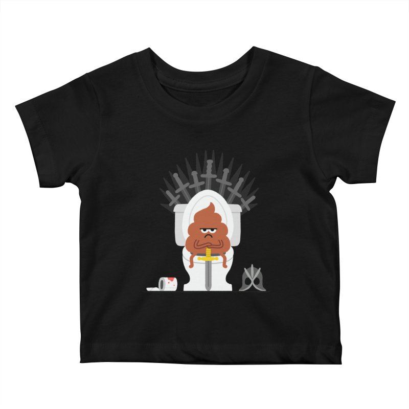Game of Toilet Kids Baby T-Shirt by Mauro Gatti House of Fun