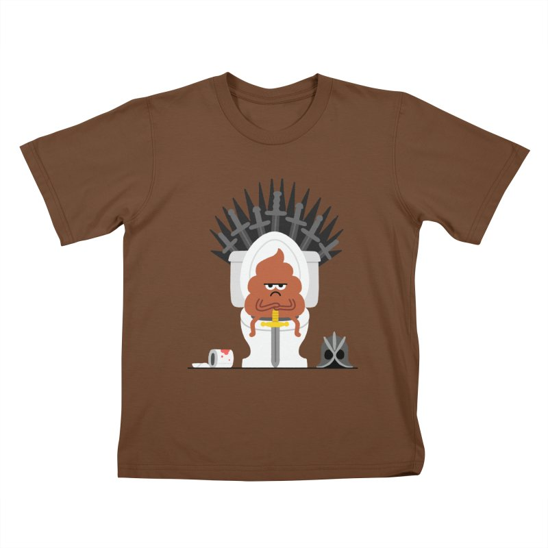 Game of Toilet Kids T-Shirt by Mauro Gatti House of Fun