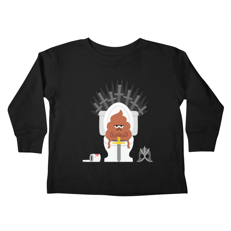 Game of Toilet Kids Toddler Longsleeve T-Shirt by Mauro Gatti House of Fun