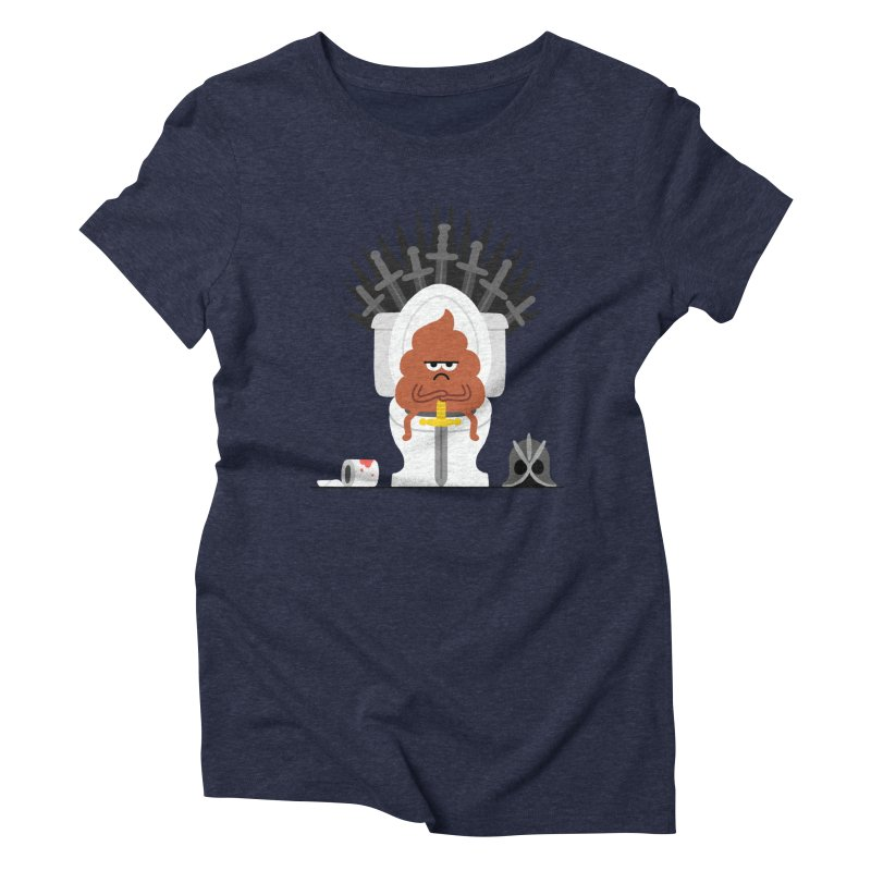 Game of Toilet Women's Triblend T-Shirt by Mauro Gatti House of Fun
