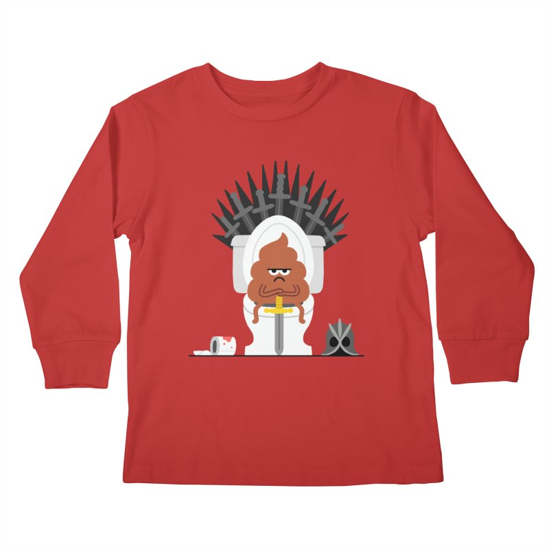 Game of Toilet Kids Longsleeve T-Shirt by Mauro Gatti House of Fun