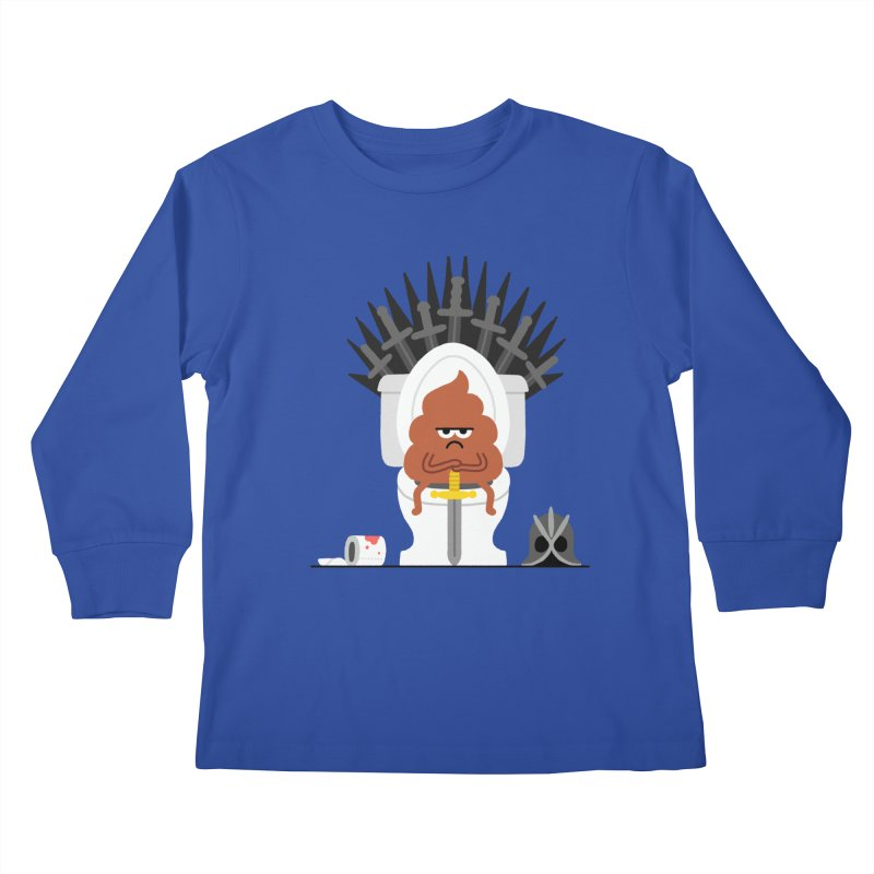 Game of Toilet Kids Longsleeve T-Shirt by Mauro Gatti House of Fun