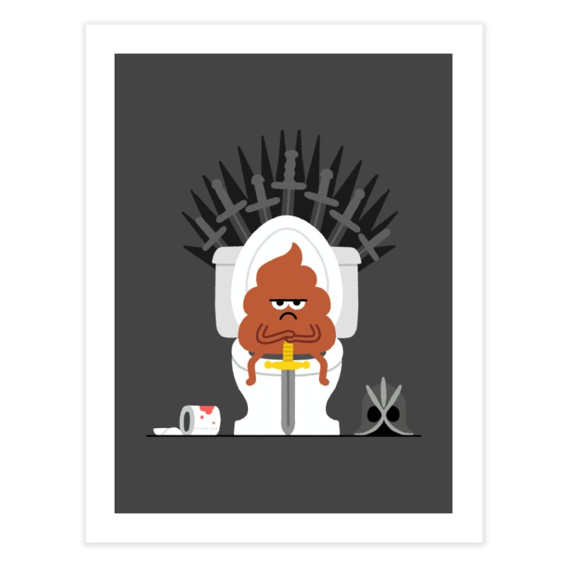 Game of Toilet Home Fine Art Print by Mauro Gatti House of Fun