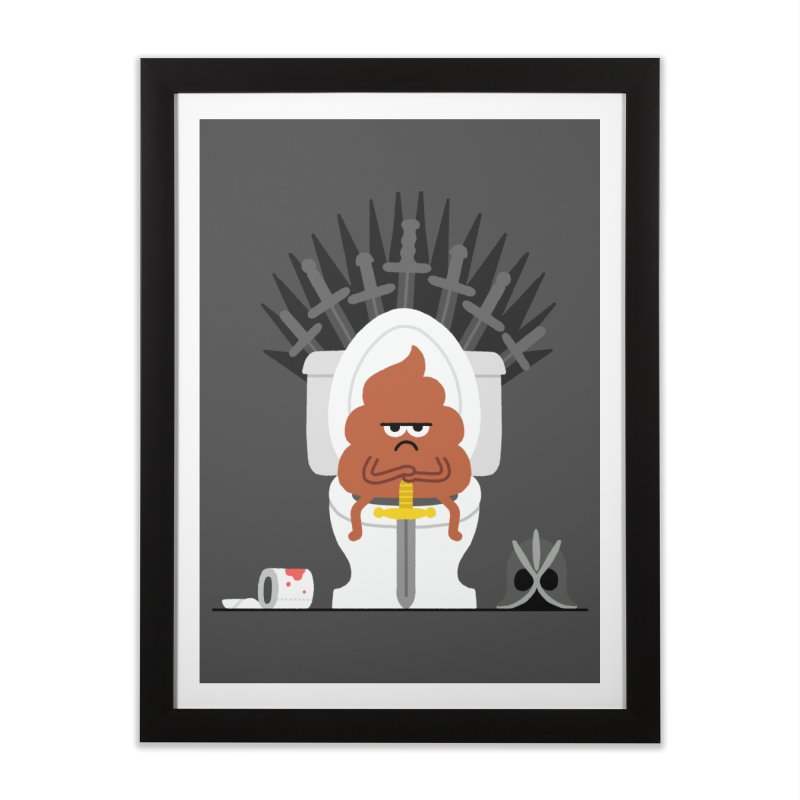 Game of Toilet Home Framed Fine Art Print by Mauro Gatti House of Fun