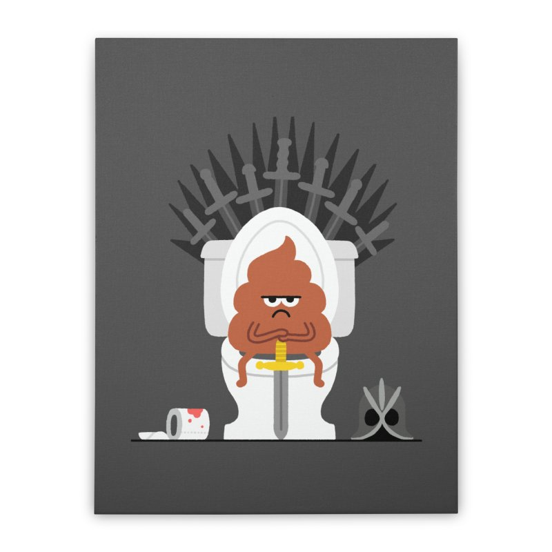Game of Toilet Home Stretched Canvas by Mauro Gatti House of Fun