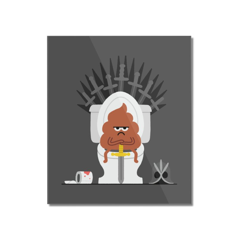 Game of Toilet Home Mounted Acrylic Print by Mauro Gatti House of Fun