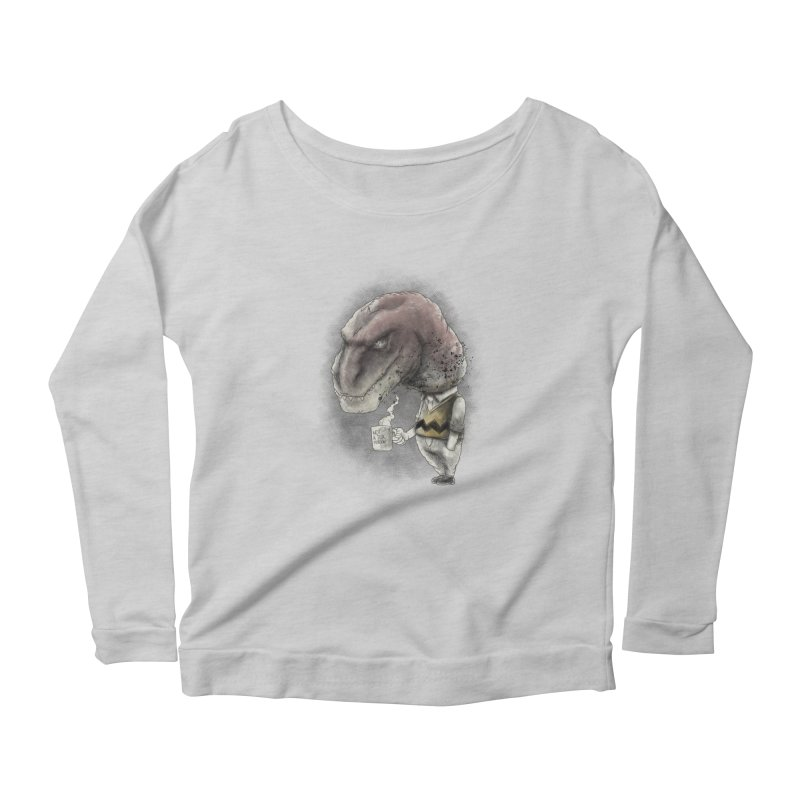 Not a tea person... Women's Longsleeve Scoopneck  by maus ventura's Artist Shop