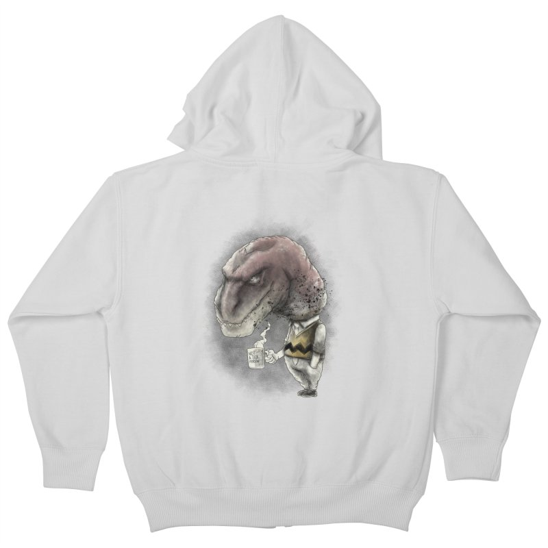Not a tea person... Kids Zip-Up Hoody by maus ventura's Artist Shop