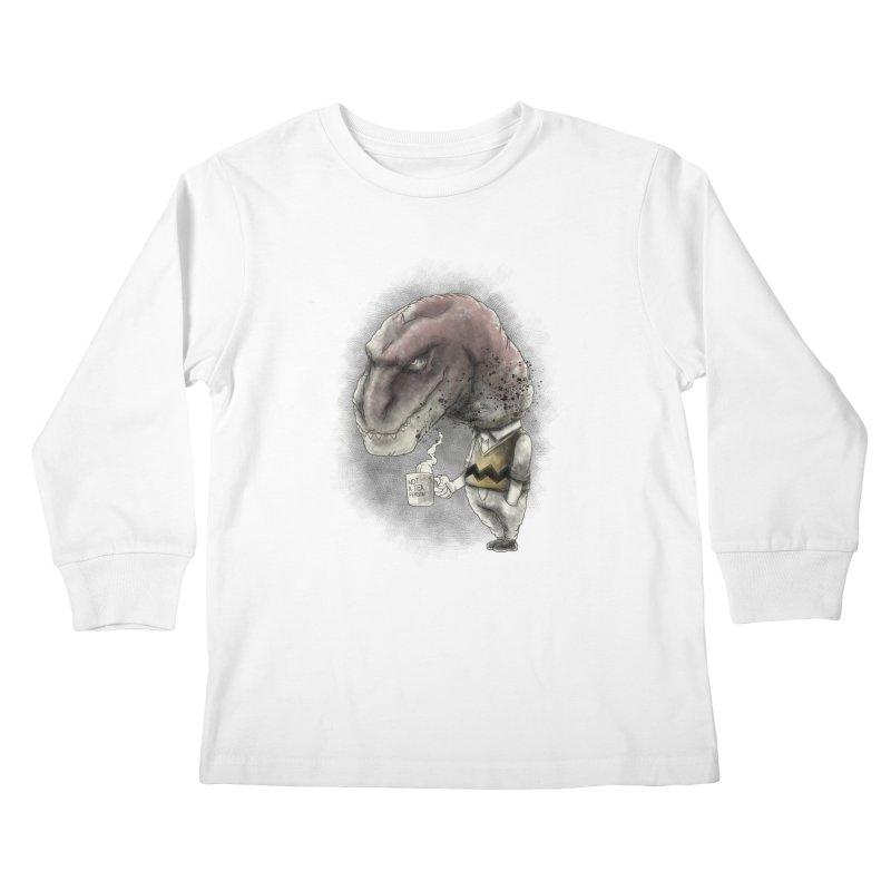 Not a tea person... Kids Longsleeve T-Shirt by maus ventura's Artist Shop