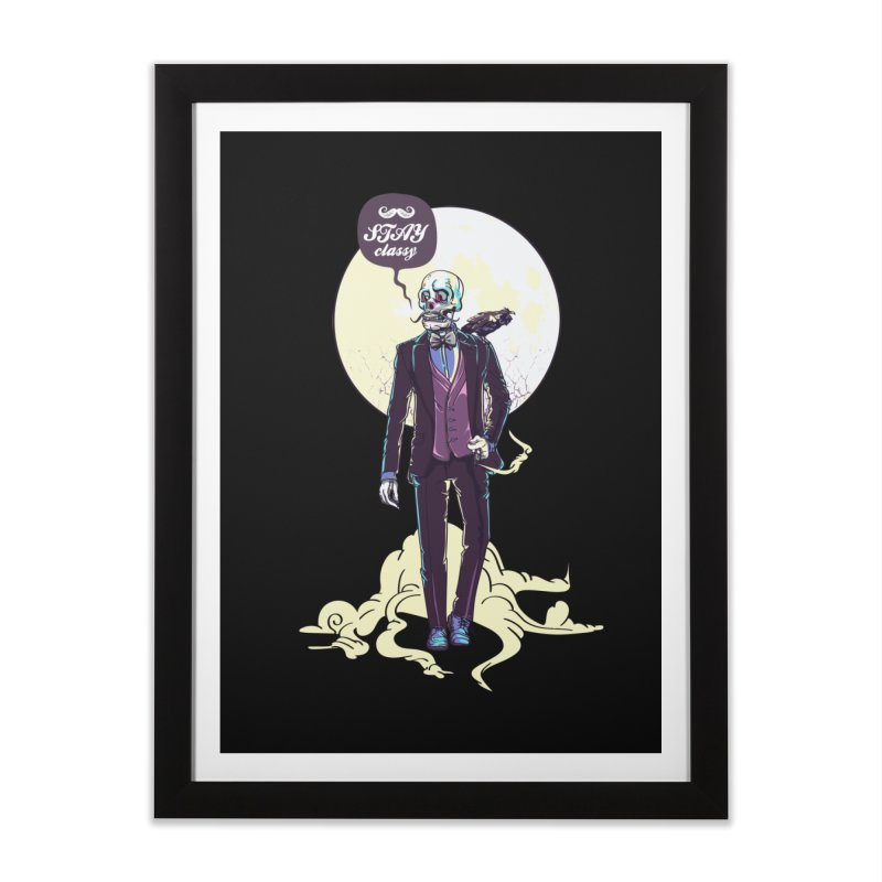 Stay Classy Home Framed Fine Art Print by maus ventura's Artist Shop