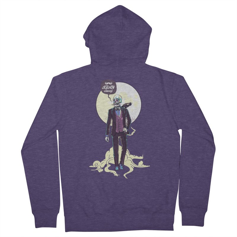 Stay Classy Men's French Terry Zip-Up Hoody by maus ventura's Artist Shop