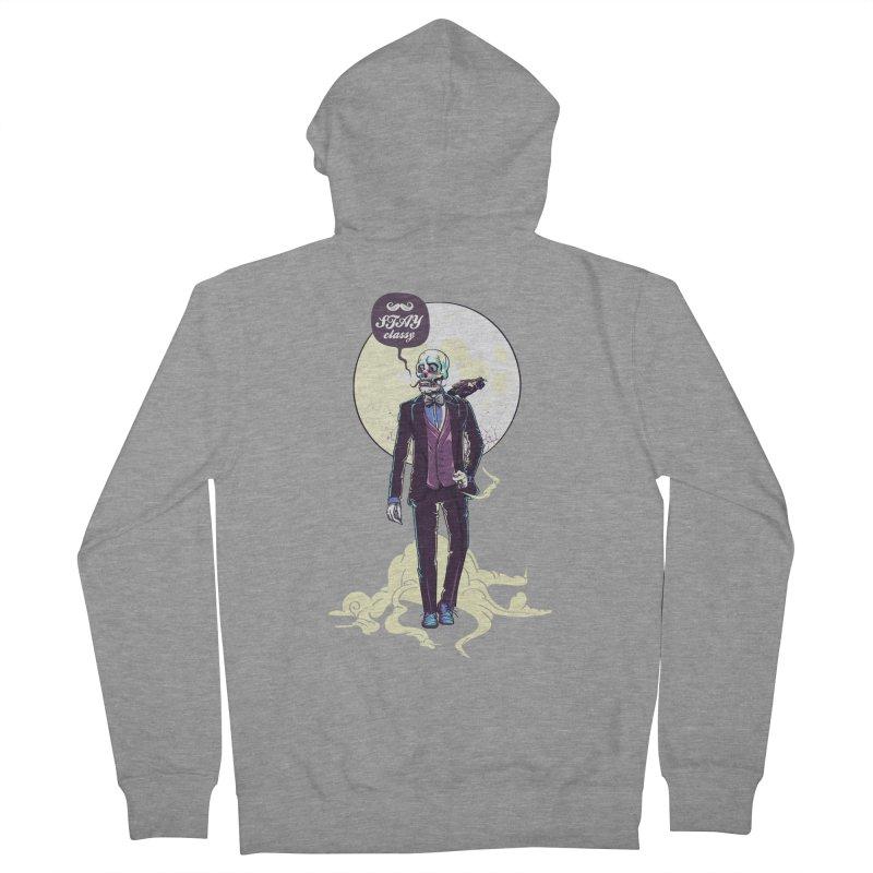 Stay Classy Men's Zip-Up Hoody by maus ventura's Artist Shop