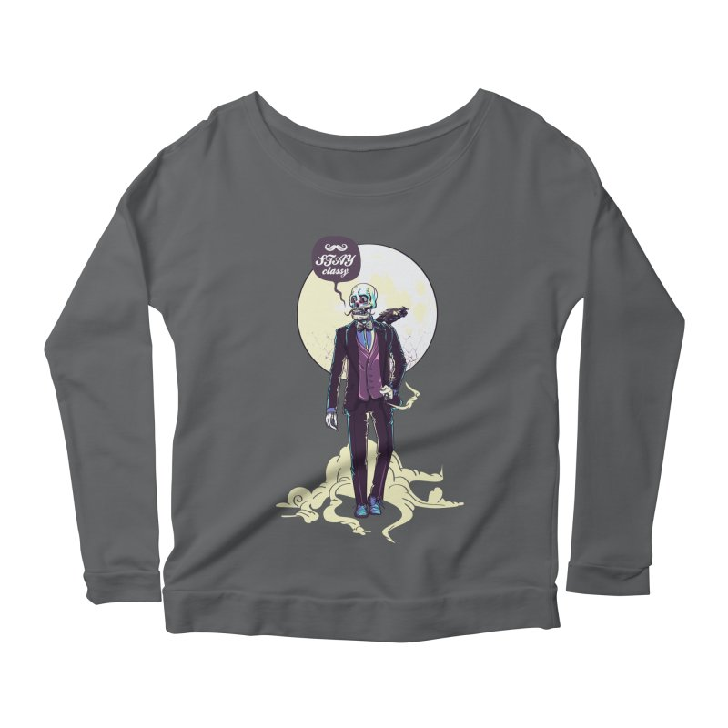 Stay Classy Women's Scoop Neck Longsleeve T-Shirt by maus ventura's Artist Shop