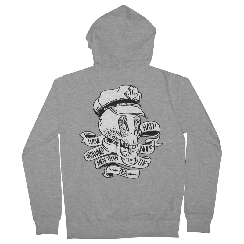 Ol Cap Thomas Women's French Terry Zip-Up Hoody by maus ventura's Artist Shop