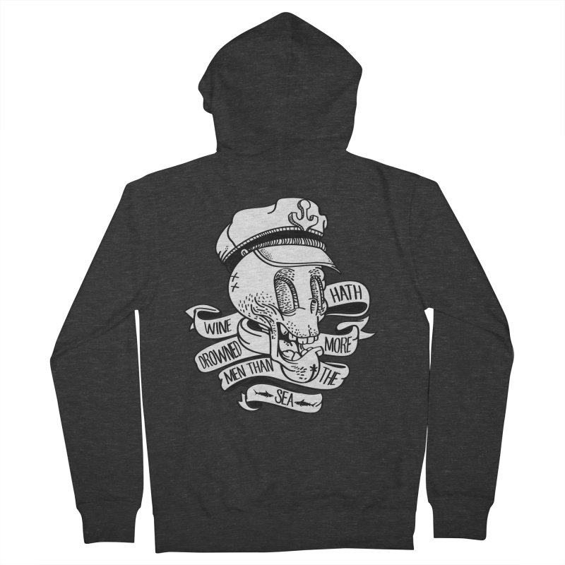 Ol Cap Thomas Men's French Terry Zip-Up Hoody by maus ventura's Artist Shop