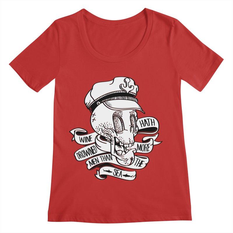 Ol Cap Thomas Women's Regular Scoop Neck by maus ventura's Artist Shop