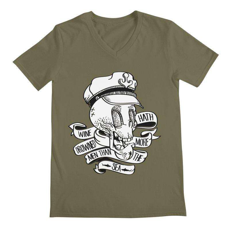 Ol Cap Thomas Men's Regular V-Neck by maus ventura's Artist Shop