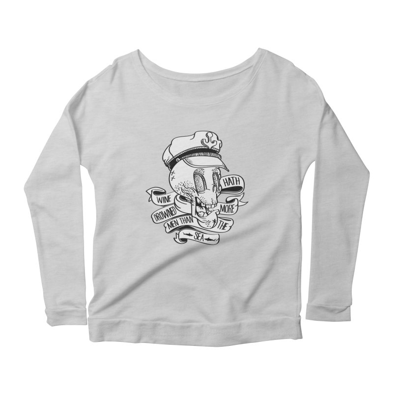 Ol Cap Thomas Women's Scoop Neck Longsleeve T-Shirt by maus ventura's Artist Shop