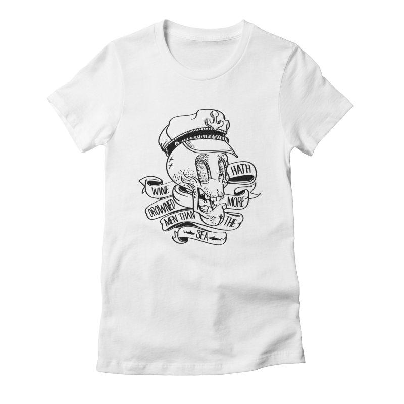 Ol´ Cap Thomas Women's Fitted T-Shirt by maus ventura's Artist Shop