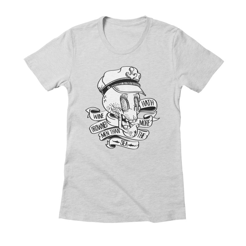 Ol´ Cap Thomas Women's Fitted T-Shirt by maus ventura's Artist Shop