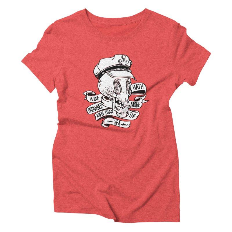 Ol´ Cap Thomas Women's Triblend T-shirt by maus ventura's Artist Shop