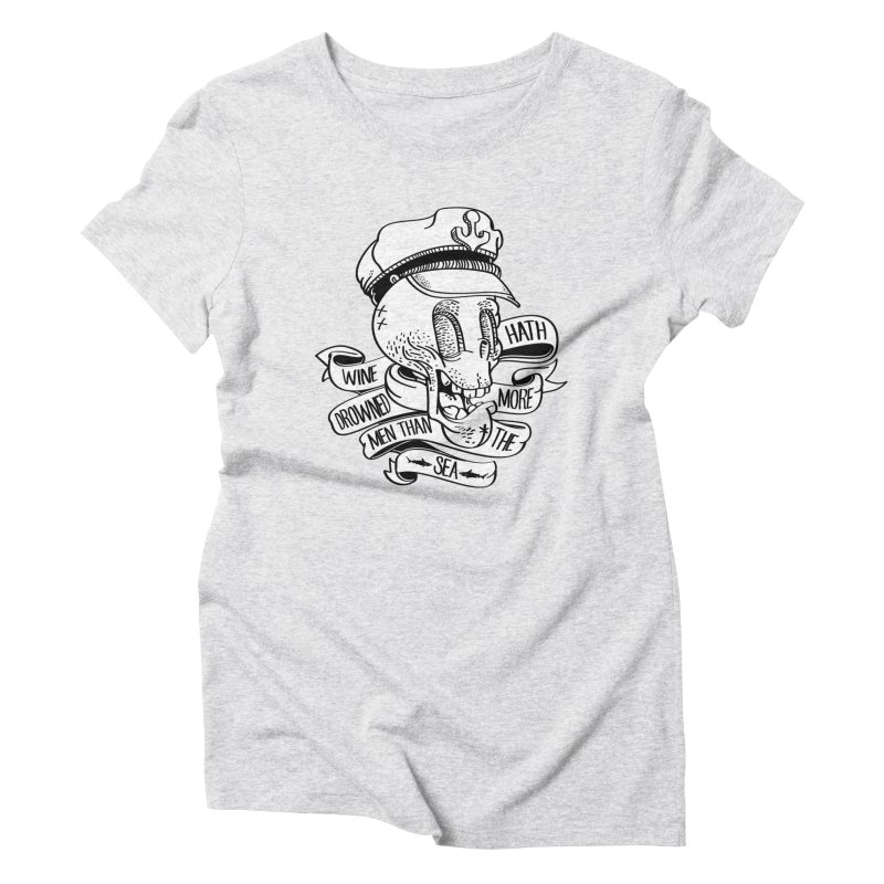 Ol Cap Thomas Women's Triblend T-Shirt by maus ventura's Artist Shop