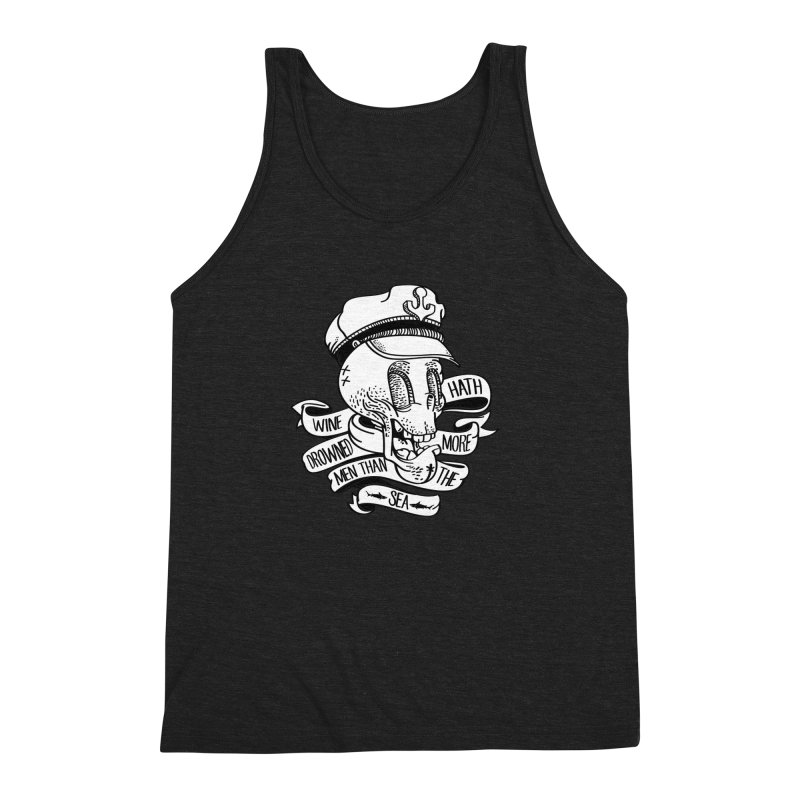 Ol´ Cap Thomas Men's Triblend Tank by maus ventura's Artist Shop