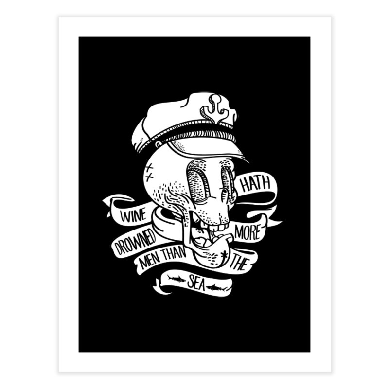 Ol´ Cap Thomas Home Fine Art Print by maus ventura's Artist Shop