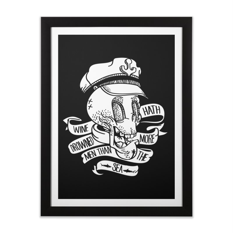 Ol´ Cap Thomas Home Framed Fine Art Print by maus ventura's Artist Shop