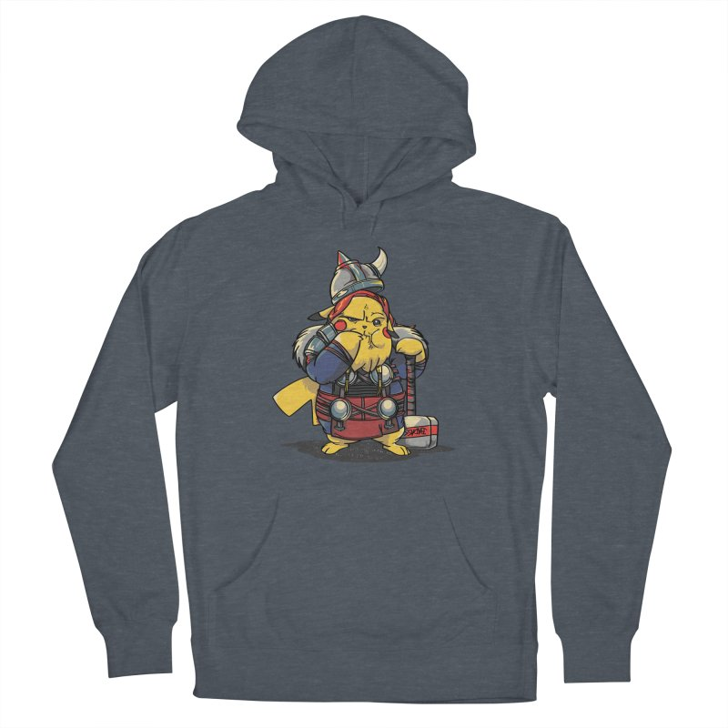 The real God of Thunder Men's French Terry Pullover Hoody by maus ventura's Artist Shop
