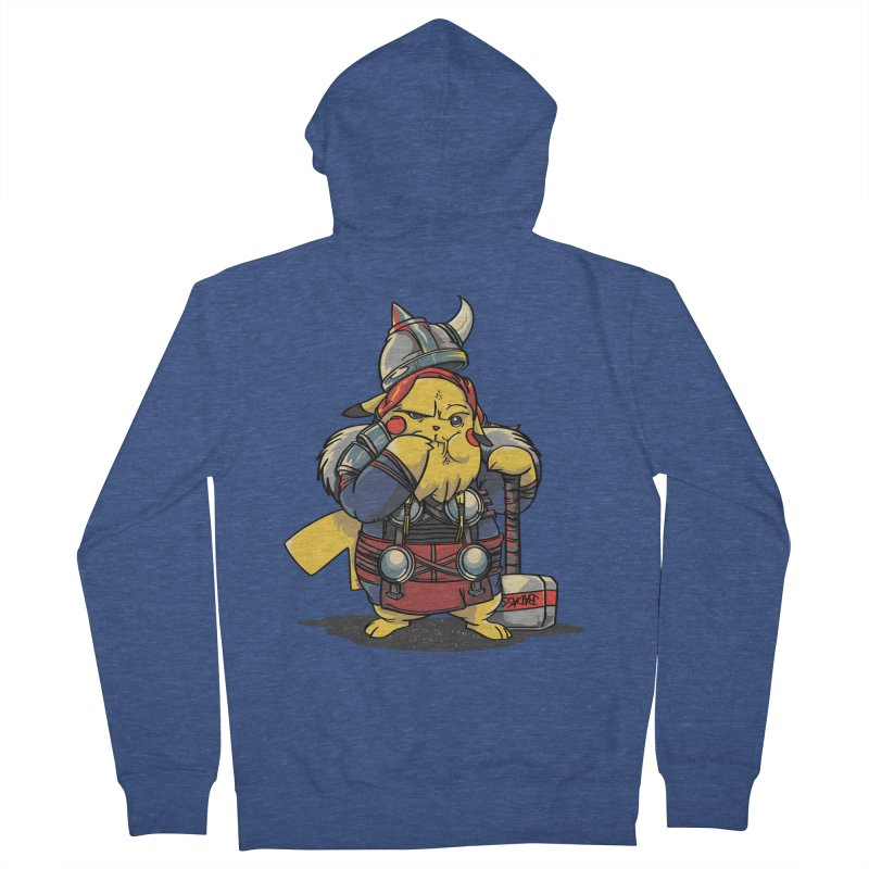 The real God of Thunder Women's French Terry Zip-Up Hoody by maus ventura's Artist Shop
