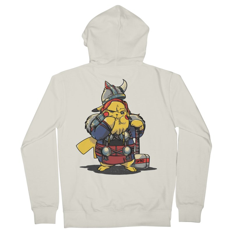 The real God of Thunder Men's French Terry Zip-Up Hoody by maus ventura's Artist Shop