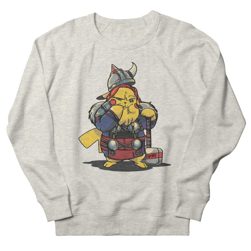 The real God of Thunder Men's French Terry Sweatshirt by maus ventura's Artist Shop