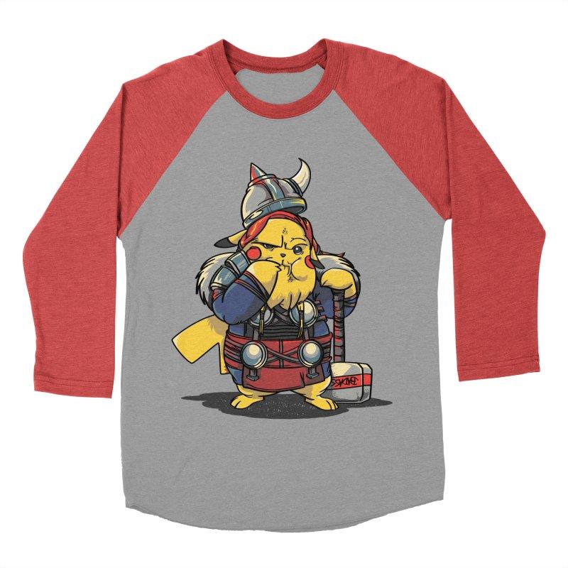 The real God of Thunder Men's Baseball Triblend T-Shirt by maus ventura's Artist Shop
