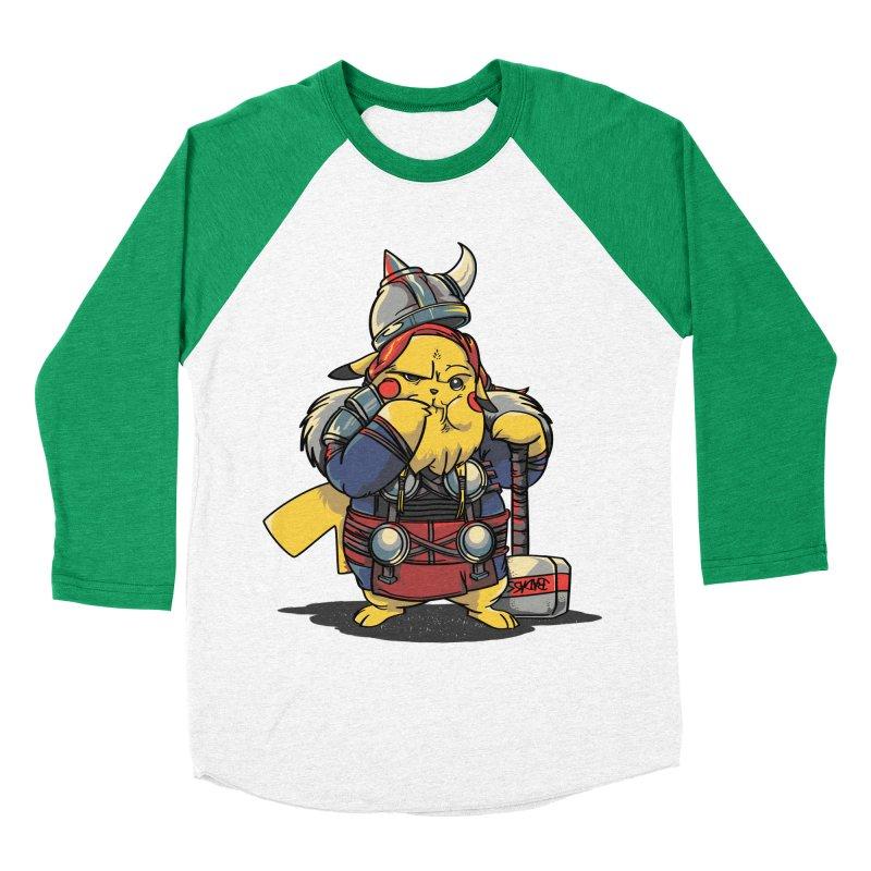 The real God of Thunder Men's Baseball Triblend Longsleeve T-Shirt by maus ventura's Artist Shop