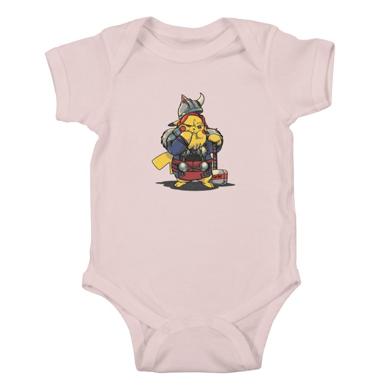 The real God of Thunder Kids Baby Bodysuit by maus ventura's Artist Shop