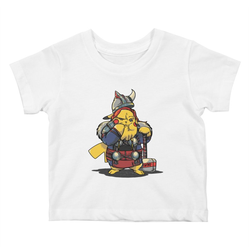 The real God of Thunder Kids Baby T-Shirt by maus ventura's Artist Shop