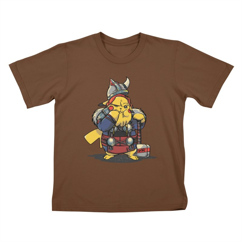 The real God of Thunder Kids T-Shirt by maus ventura's Artist Shop