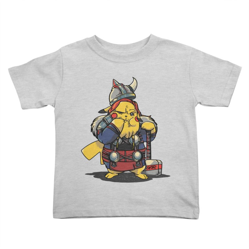 The real God of Thunder Kids Toddler T-Shirt by maus ventura's Artist Shop