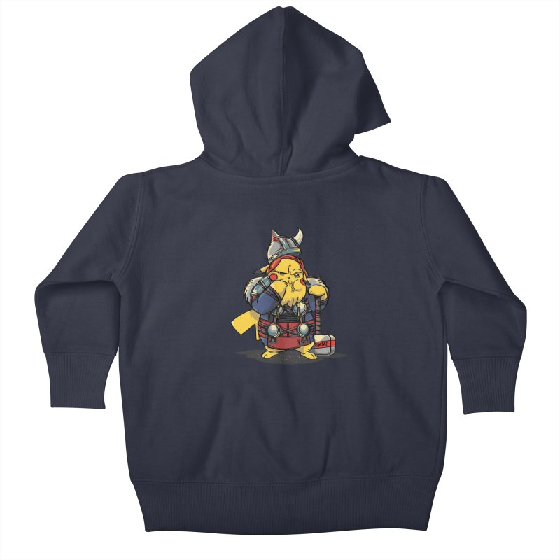 The real God of Thunder Kids Baby Zip-Up Hoody by maus ventura's Artist Shop