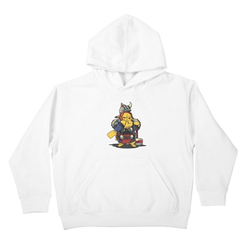 The real God of Thunder Kids Pullover Hoody by maus ventura's Artist Shop