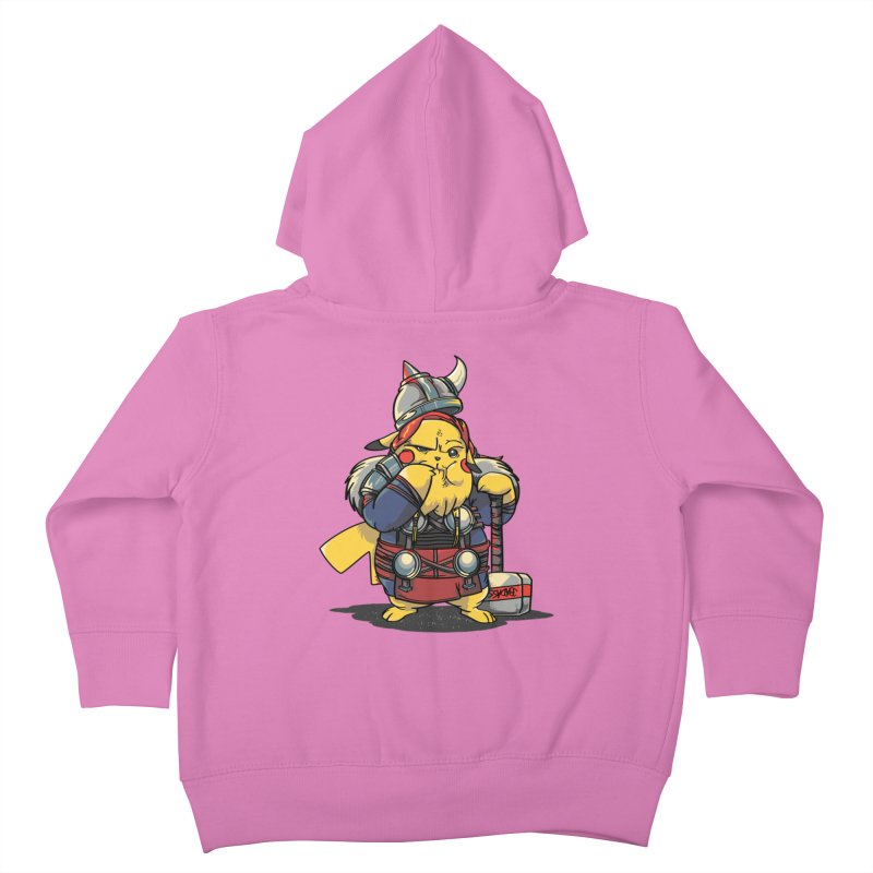 The real God of Thunder Kids Toddler Zip-Up Hoody by maus ventura's Artist Shop