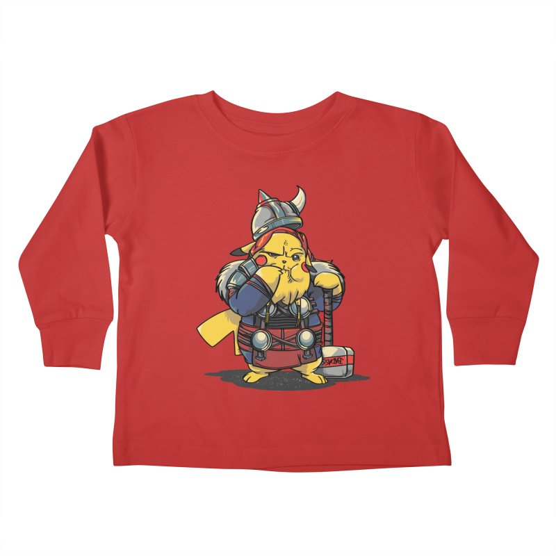 The real God of Thunder Kids Toddler Longsleeve T-Shirt by maus ventura's Artist Shop