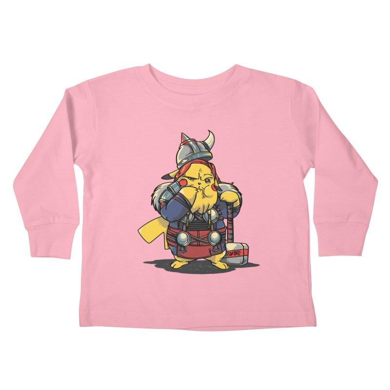 The real God of Thunder Kids Toddler Longsleeve T-Shirt by maus ventura's Artist Shop